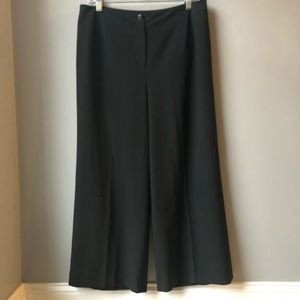 Talbots Women's Size 12 Solid Black Wide Leg Pant